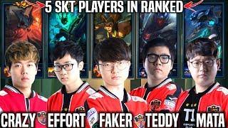 5 SKT T1 Players in the Same Team! ( Faker Mata Teddy Effort Crazy ) vs SKT T1 Clid! | Preseason 9