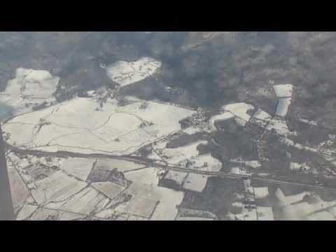 Brussels-to-Washington flight: from lower St. Lawrence River & Montreal to landing 2011-02-06