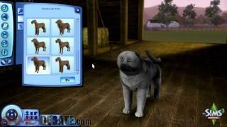 SIMS 3 PETS: CREATE A PET DEMO Par 1/2