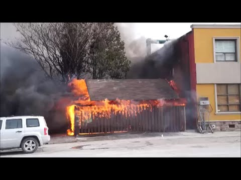 Toronto On Scene - The Queensway 2nd Alarm Garage Fire