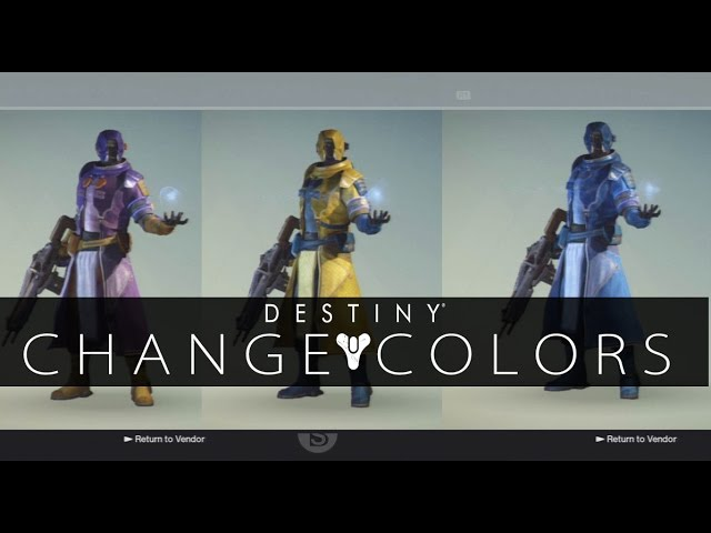 Destiny Tutorial - How to change your Guardian's Outfit Color (Customize  your Armor with Shaders)