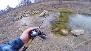 ULTRA Clear Creek Fishing For Big Backwoods Bass