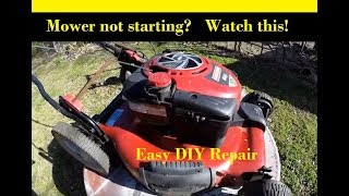 Mower Won't Start After Winter Storage - Easy DIY Small Engine Repair