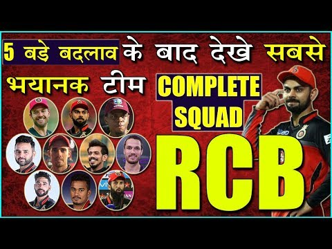 IPL 2019 RCB FINAL AND FULL SQUAD FOR IPL 2019 | COMPLETE TEAM OF RCB AFTER AUCTION | IPL 2019