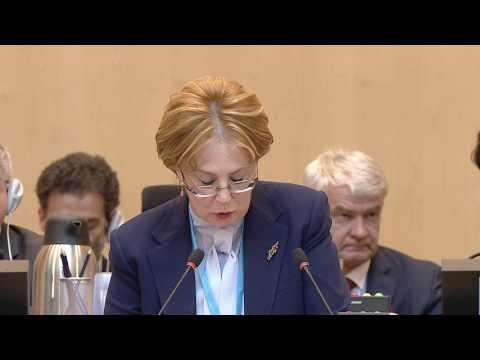 WHO: Speech by Dr Veronika Skvortsova, President of the 70th World Health Assembly - (English)