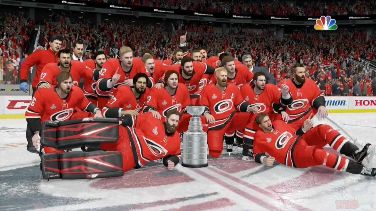 Nhl 18 Carolina Hurricanes Stanley Cup Celebration Youtube