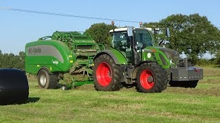 Baling & Wrapping for Haylage with Fendt 724 & NEW McHale Fusion Vario
