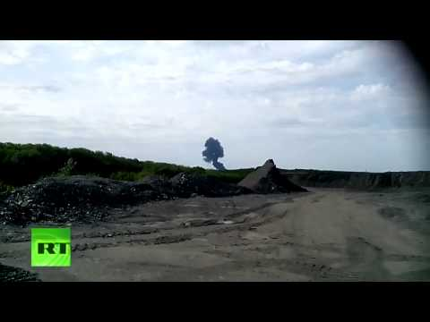 The moment Malaysia Airlines Flight MH17 explodes in Ukraine