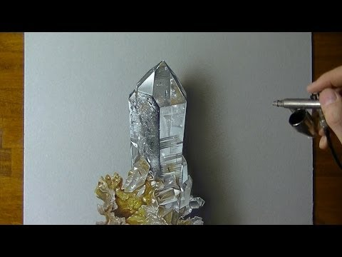 Drawing Time Lapse: hyaline quartz – hyperrealistic art