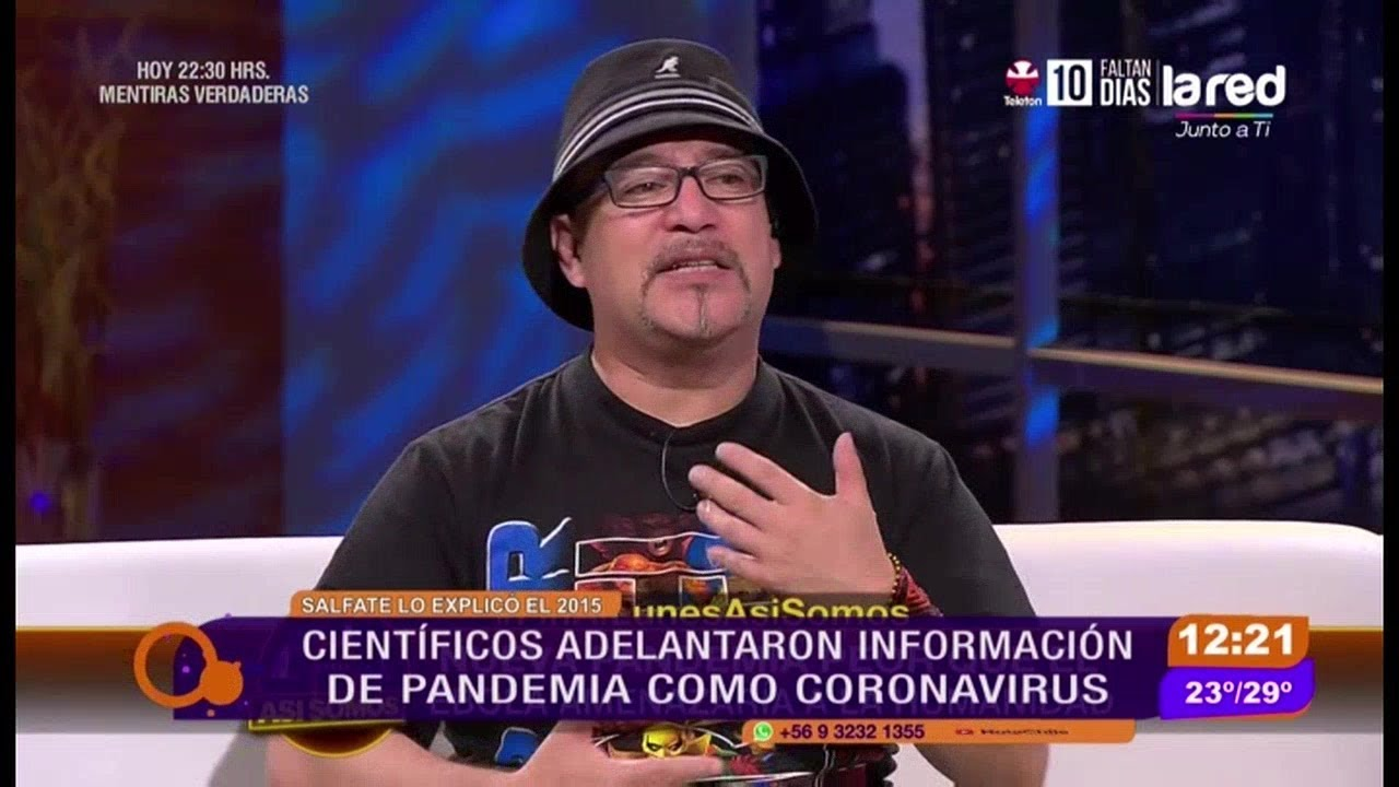 Así fue como explicó Salfate en el 2015 la pandemia del coronavirus