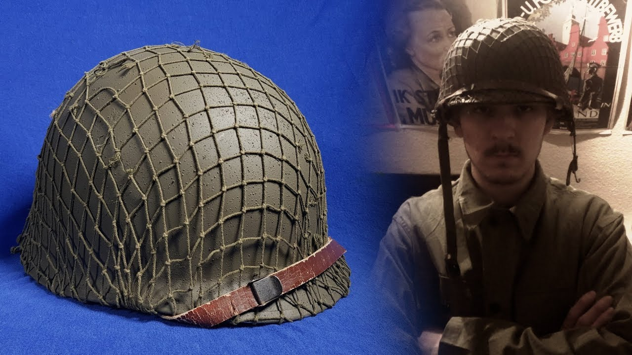 WW2 U S  M1 Helmet - How to Restore a M1 Helmet / Convert a Post War helmet  to a WWII One!