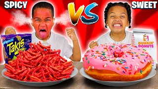 SWEET VS SPICY FOOD CHALLENGE 🌶️