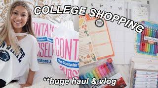 HUGE college haul + shopping vlog