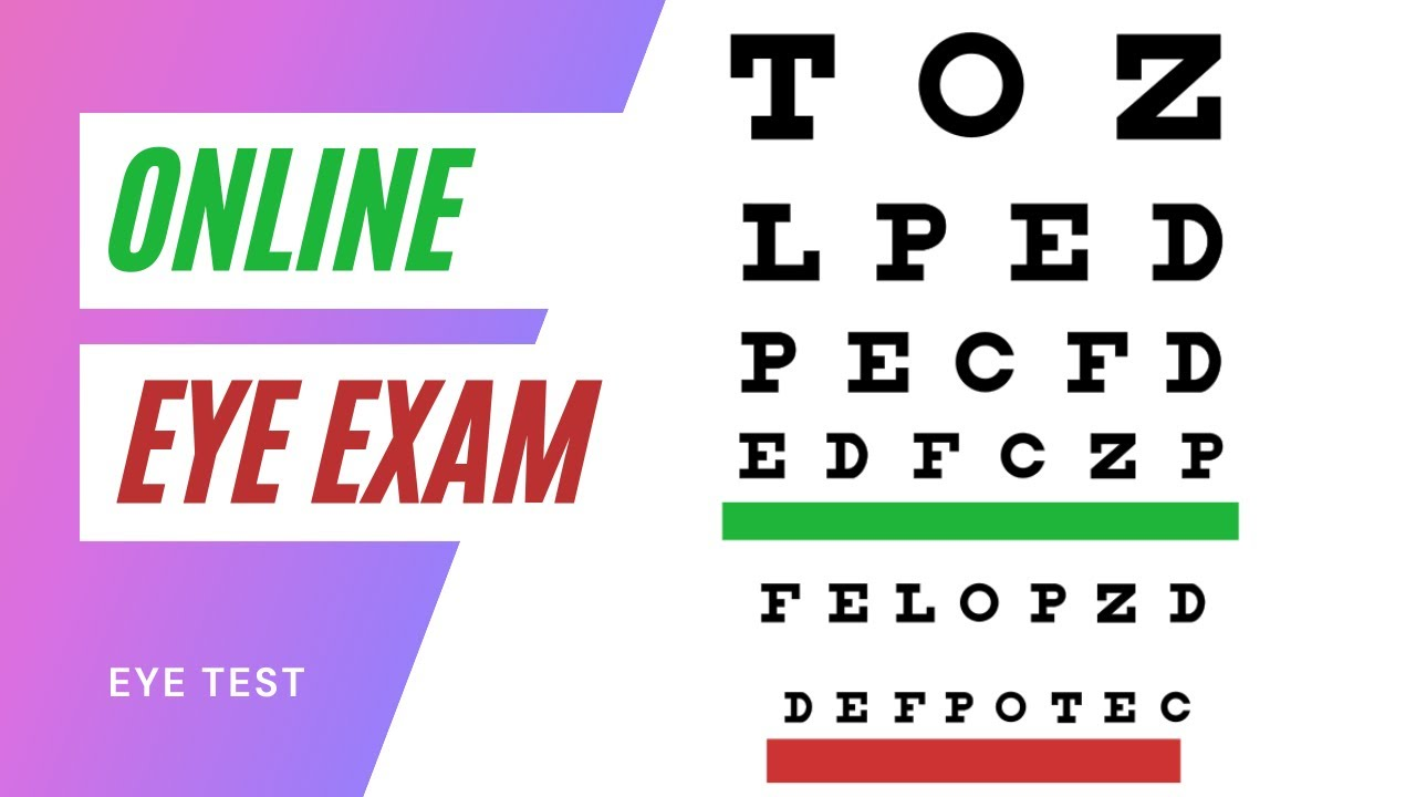 Online eye exam youtube nvjuhfo Image collections