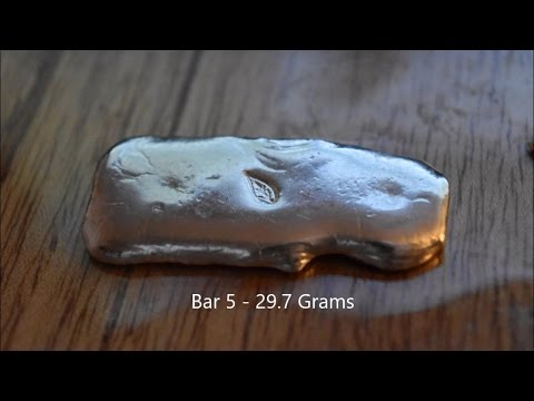 Silver Bullion for Sale - Hand poured and polished by me!