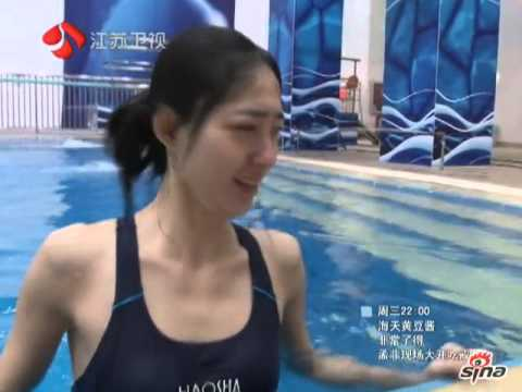 《星跳水立方》王丽坤素颜跳水展身姿 ~ Wang Li Kun in