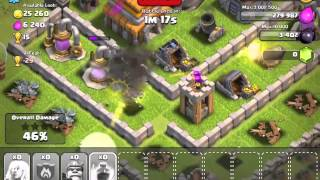 Clash of Clans Lone Hero Attack
