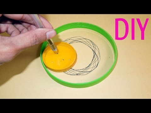 how-to-make-a-spirograph-toy-set-for-kids-at-home-:-auto-drawing-craft