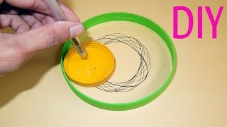 How To Make A Spirograph Toy Set For Kids At Home : Auto Drawing Craft