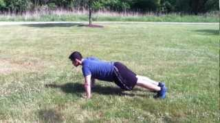 Demo- Push Up to Plank Mountain Climber Combo