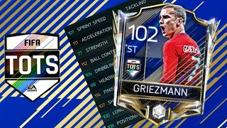 TOTS GRIEZMAN COMPLETED + GAMEPLAY | LALIGA TOTS CHAIN PACK OPENING | FIFA MOBILE 18