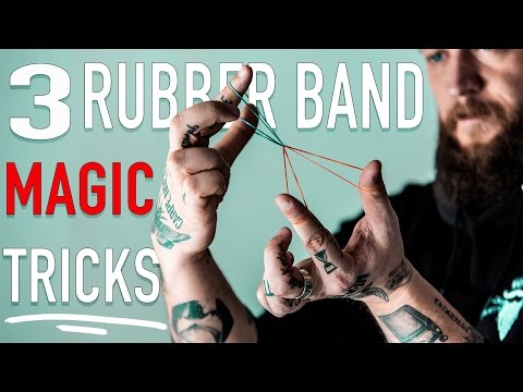 3 EASY Rubber Band Magic Tricks! - Learn Them FAST!