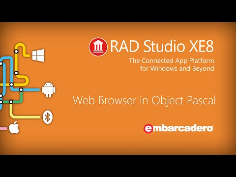 Web Browser with Object Pascal RAD Studio XE8