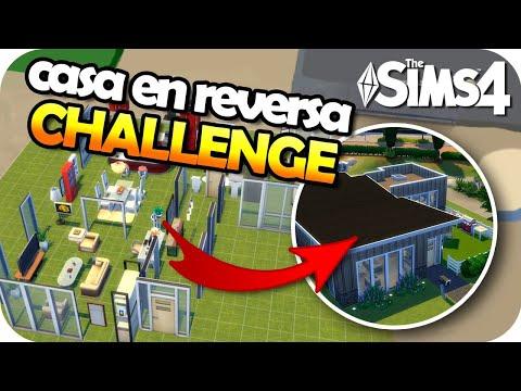 The Sims 4 Challenge - CONSTRUYE EN REVERSA 😱↩️🔨 thumbnail