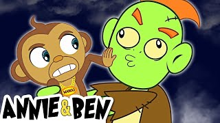 Rig-A-Jig-Jig with the Funny Zombie | Funny Halloween Rhymes for Kids | Annie and Ben