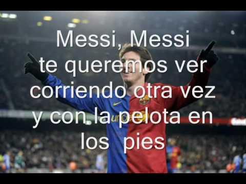 Cancion de Messi con letra