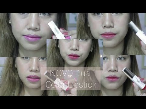 novo-dual-color-lipstick-review- -all-shades
