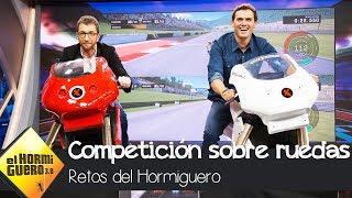 Pablo Motos y Albert Rivera compiten sobre ruedas - El Hormiguero 3.0