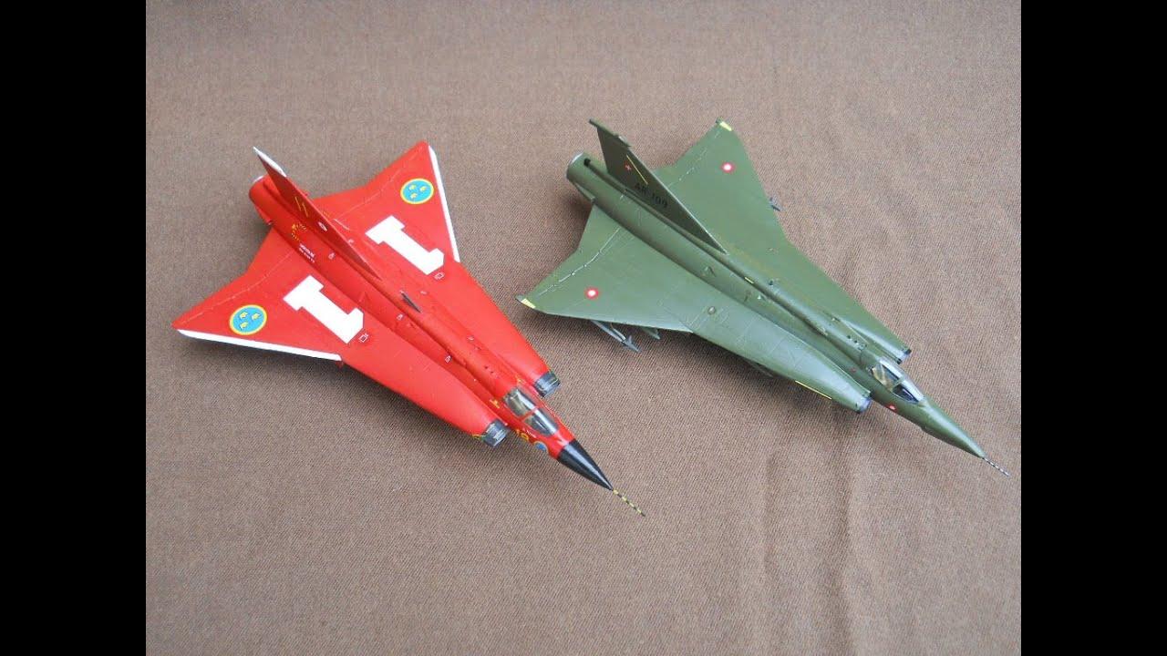 HASEGAWA 1/72 RF-35 & J35 F Draken - A Double Build In ...