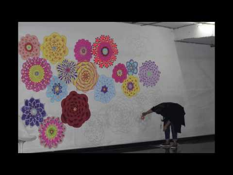 Whitefield Art Collective Mural Time Lapse