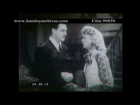 Man and Woman Argue in 1940's Murder Story.  Archive film 99859