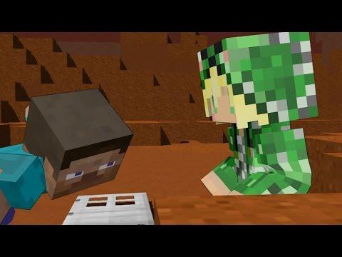 Steve vs creeper girl minecraft animation youtube - Minecraft creeper and steve ...