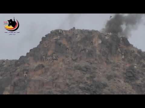 شاهد بطولة أفراد الجيش الوطني في نهم وتطاير جثث الحوثيين !