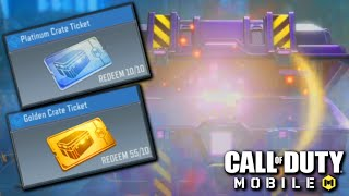I used ALL MY TICKETS in Call of Duty Mobile   CoD Mobile Crate opening