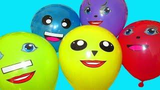 Воздушные Шарики Учим цвета с шариками Песенка Красный Шарик где же ты Мультик малышам Лопаем шарики