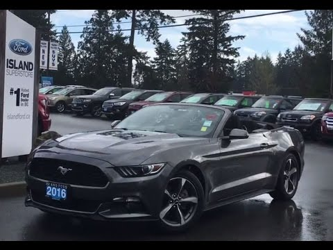 2016 ford mustang v6 convertible w backup camera review island ford youtube. Black Bedroom Furniture Sets. Home Design Ideas
