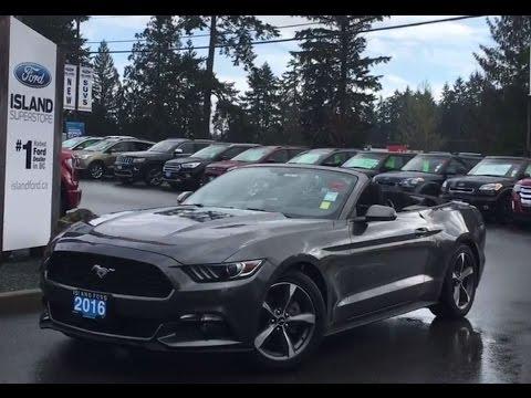 2016 Ford Mustang V6 Convertible W Backup Camera Review Island
