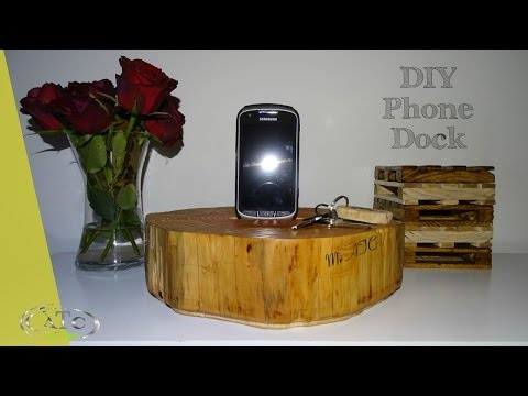 How to build your own Wooden phone dock // DIY