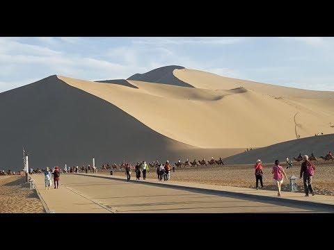 Singing-Sand Mountain & Crescent Lake, Dunhuang, China 敦煌鳴沙山, 月牙泉
