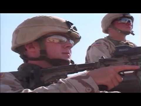 Iraq War - Soldiers Patrol Around FOB Regular