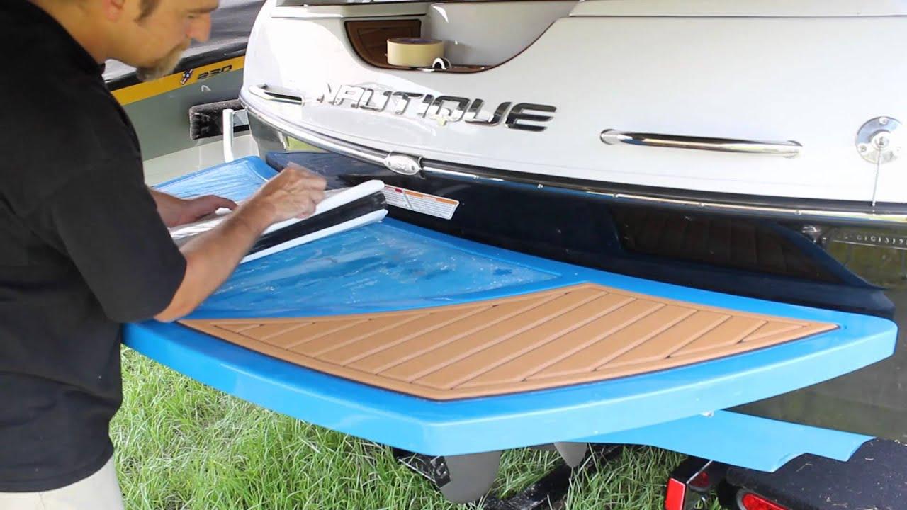Installing A New Set Of Seadek Swim Platform Pads Youtube