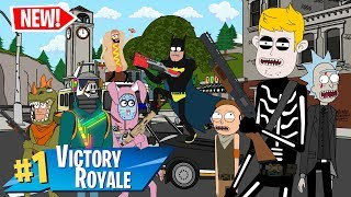 $1,000,000 FORTNITE TOURNAMENT (ANIMATION) - PART 1 w/ BATMAN, RICK and MORTY AND MORE!