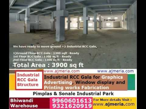 Industrial RCC Gala G+2 Structure for Graphics Advertising, Window display and Printing works Fabric