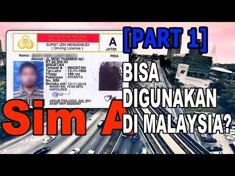 SIM Indonesia bisa digunakan di Malaysia? [Part 1] from YouTube · Duration:  3 minutes 38 seconds
