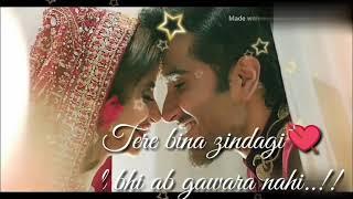 Tere bina zindagi ek pal bhi ab gawara nahi whatsapp status