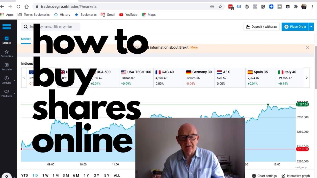 How to Buy Shares Online on the DeGiro Share Trading Platform - YouTube